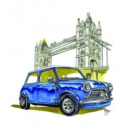 Mini Morris Bleue London